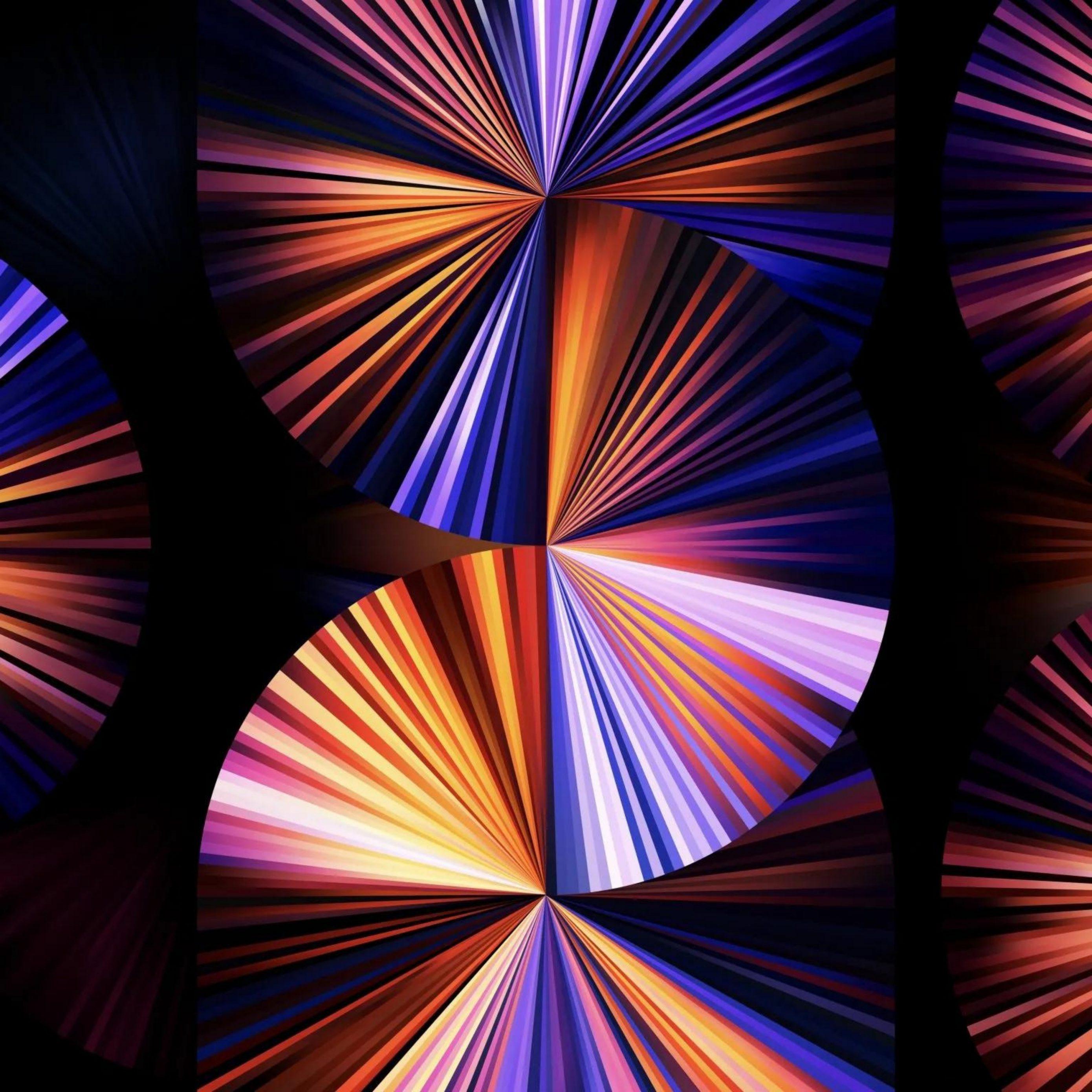 2780x2780 Parallax wallpaper 4k iPad Pro 2021 12 9 Inch Purple Blue Dark Black Background iPad Wallpaper 2780x2780 pixels resolution
